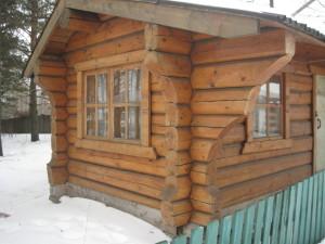 Баня ручной работы рубленная  в Новосибирске