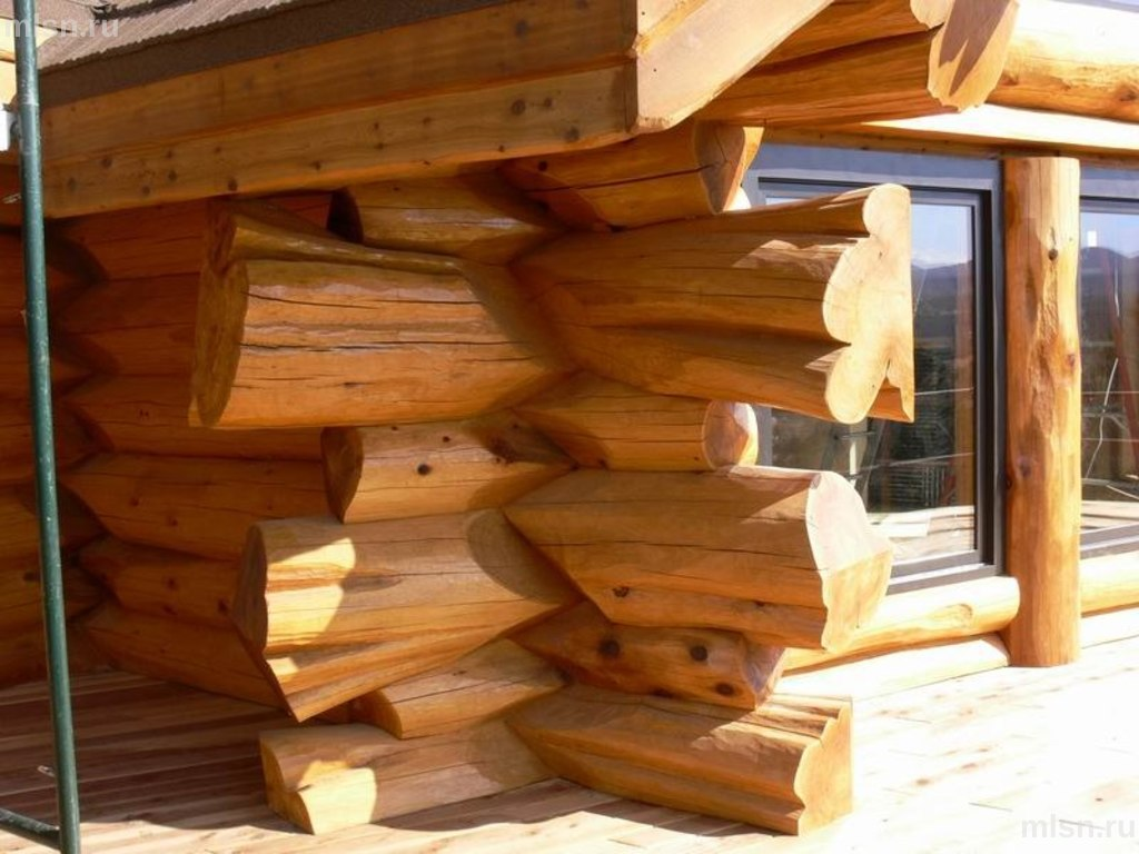 Сруб дома в Новосибирске